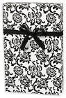 """Damask Gift Wrap - Black and White - 30"""" x 240"""" Lg Roll - 50"""