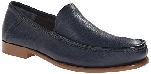 Calvin Klein Men's Danby Waxy Leather Slip-On Loafer, Pewter