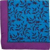 Duchamp Dark Floral-Print Pocket Square