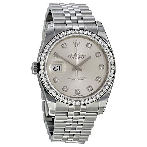 Rolex Datejust Automatic Silver Dial Diamond Stainless Steel