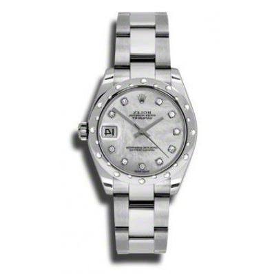Rolex Datejust 31mm Steel 24 Diamond Bezel Oyster Bracelet