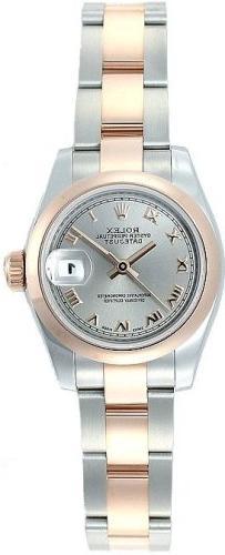 Rolex Datejust Ladies Steel 18K Rose Gold Watch 179161