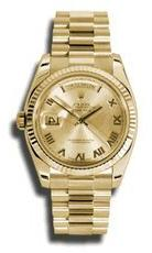 Rolex Day-Date Automatic Champagne Roman Dial President Men'