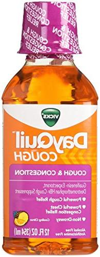 Vicks Dayquil Mucus Control Dm Liquid Citrus Blend Flavor 12