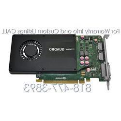 Dell NVIDIA Quadro K2000 2GB GDDR5 PCIe 2.0 x16 Graphics