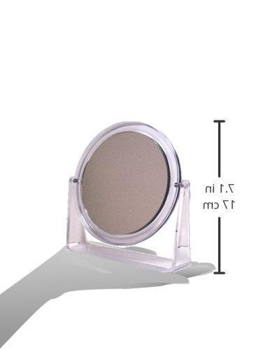 Swissco Deluxe Vanity Mirror, Clear Frame, 5 Inch, 11.5
