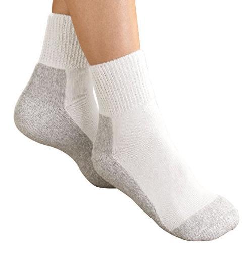 Physician's Choice Diabetic Crew Socks - 12 Pair 10-13 Gray