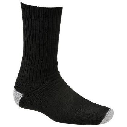 Wigwam Diabetic Sport Crew Socks Medium, Black