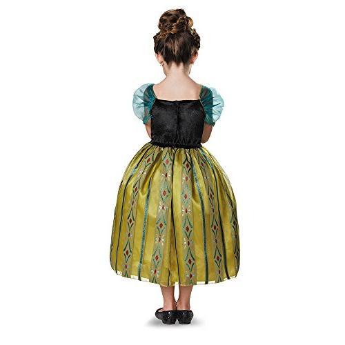 Disguise Disney's Frozen Anna Coronation Gown Deluxe Girls