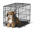 Small Dog Pet Cat Crate Cage Kennel Metal Folding Door Tray