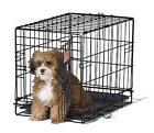 Small Dog Crate Cage Pet Single Door Training Iron Wire