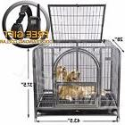 "42"" Dog Crate Kennel Heavy Duty Pet Cage Playpen Removable"