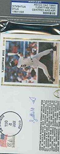 Don Mattingly Autograph 1986 Fdc Signed Psa/dna
