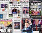 Donald Trump President 8x10 Photo Newspaper Headlines NY