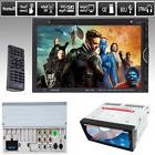 """Double 2 Din 7"""" In Dash Stereo Car DVD CD Player Bluetooth"""