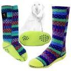 Acorn Double Duty Sox Skid Resistant-Warm Fleece Socks For
