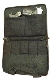 "Double Pistol Case with Double Padding - 14"" x 10"" x 2"