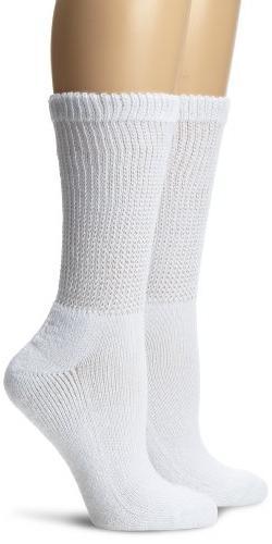 Diabetes & Circulatory Crew Socks Black XL - 3 Pairs