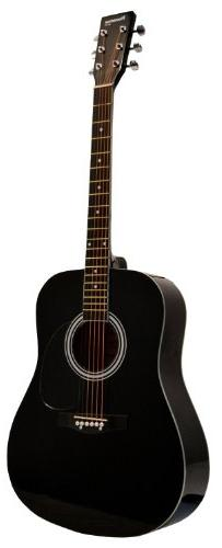Full Size Dreadnought BLACK Acoustic Guitar with Free