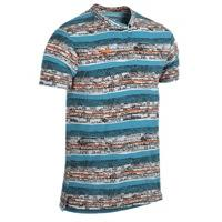 Nike Dri-Fit Touch Printed Henley - Mens - Blue Lagoon/Total