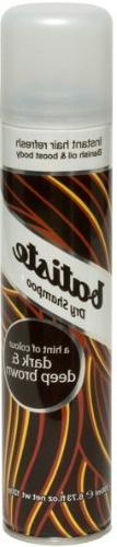 Batiste Dry Shampoo, Dark and Deep Brown, 6.73 Fluid Ounce