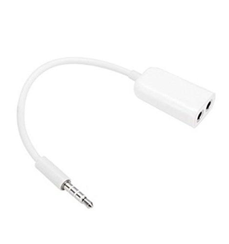 TOOGOO Dual 3.5mm Jack Stereo Headphone Adapter for Apple