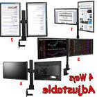 Dual Monitor Stand Free Standing Arm Desk Mount 4 Ways
