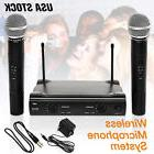 Dual WIRELESS CORDLESS MICROPHONE SYSTEM WITH WIRELESS UT4