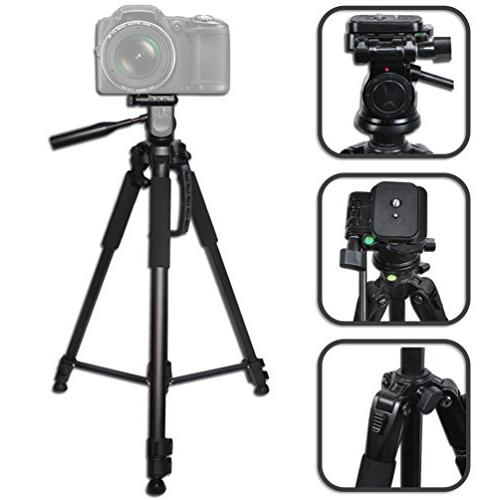 Durable Pro Grade 72 inch Full size Tripod with 3 way Pan-