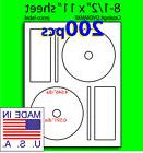 DVDMMXF, 200 CD/DVD Labels Memorex Compatible Full Face