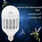 E27 15W LED Insect Zappers Light Bulb Anti-Mosquito Flying