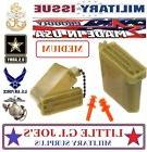 Military Issue Ear Plugs With Storage Case USGI Tactical