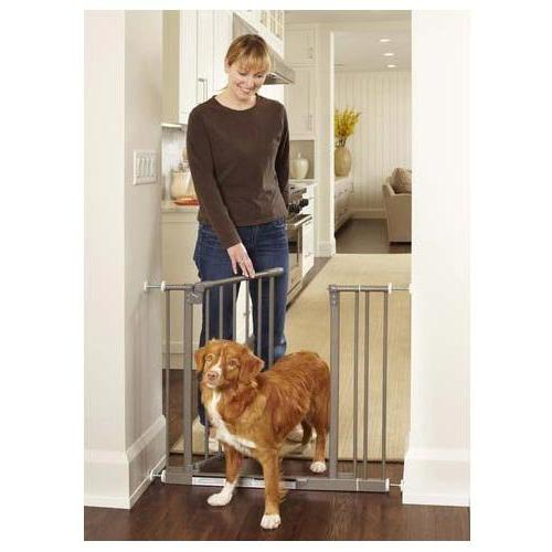 """North States Easy-Close Wall Mounted Steel Gate 28"""" - 38.5"""""""