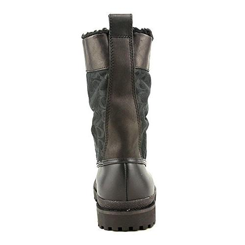 COACH LAURA BLACK ANILINE CALF BOOT WOMEN SHOE SIZE 7.5 M