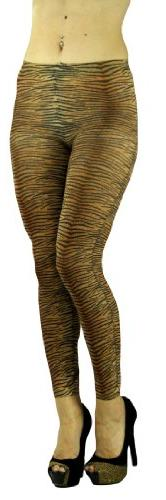 ToBeInStyle Women's Elastic Animal Print Footless Leggings