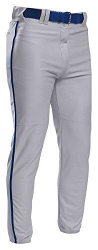 A4 Adult Pro Style Elastic Bottom Baseball Pant M GREY/NAVY