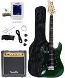 Crescent Electric Guitar Starter Kit - Greenburst Color