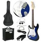 Full Size Electric Guitar w/ 10 Watt Amp Gig Bag Case Guitar