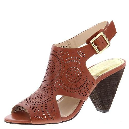 Vince Camuto Women's Ellezi Brick Ankle-High Leather Sandal