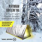 Emergency Survival Shack Tent Mylar Thermal Gear Outdoor