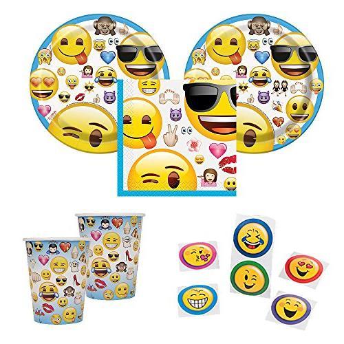 Emoji Party Supplies - Wink Emoji Pinata Party Game, Pull