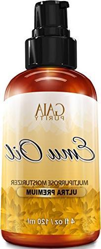 Emu Oil - Large 4oz - Best Natural Oil For Face, Skin, Hair