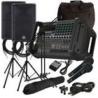 Yamaha EMX5 Powered PA Mixer with CBR12 Speakers COMPLETE AUDIO BUNDLE