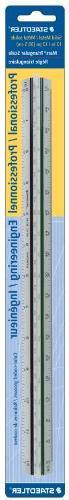 Staedtler 12-Inches Engineer Aluminum Triangular Scale