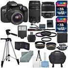 Canon EOS Rebel T6 DSLR Camera with 18-55mm, EF 75-300mm