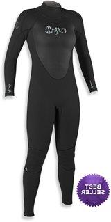 O'Neill Women's Epic Wetsuit 4/3mm Full - Black - 8T