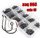 500 Pcs Fishing Hooks Gear Equipment Accessories Box kit Lot Tackle Line  Lures