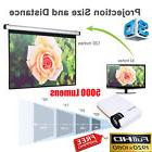 Newest 1200 Lumens Android 4.4 HD 1080P LED 3D AV HDMI TV