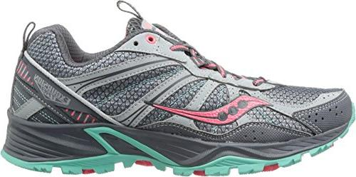 Saucony Women's Excursion TR8 Trail Running Shoe,Grey/Coral/