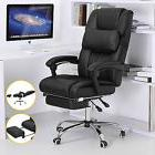 Office Chair Executive High Back Reclining Black Leather